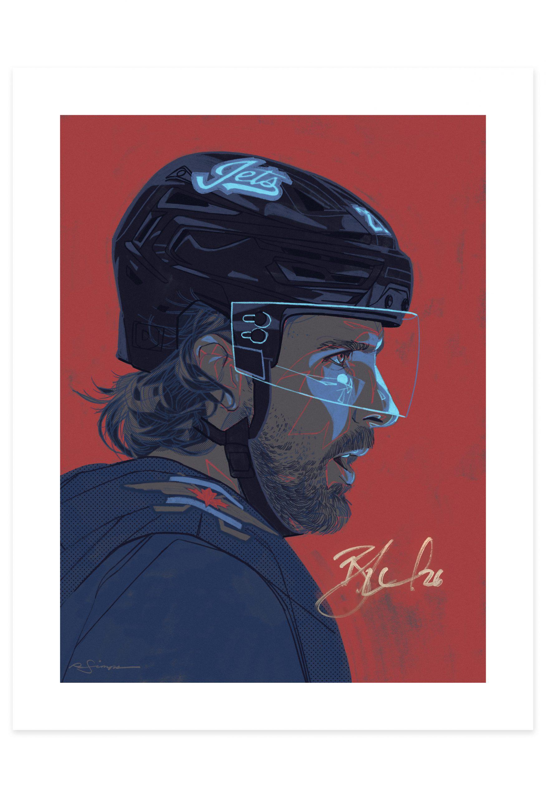 Blake Wheeler Signed Print
